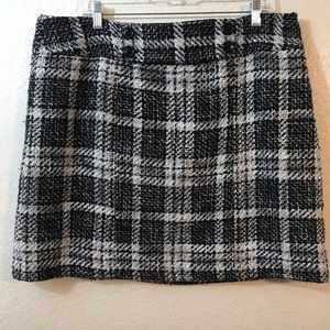 Ann Taylor Plaid tweet Skirt SZ 16